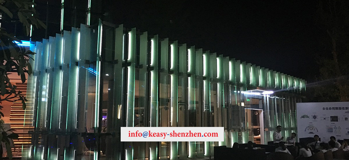 Quanzhou Poly City Sales Department Building Landscape Lighting 1