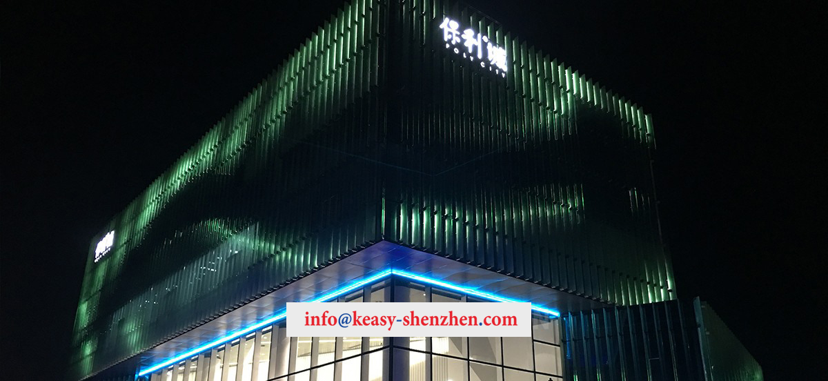 Quanzhou Poly City Sales Department Building Landscape Lighting 2