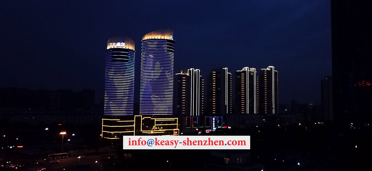 Rizhao Sovereignty Hotel building illumination 1
